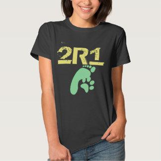 (2 especies 1 pensadas) diseño original 2R1 Camisetas
