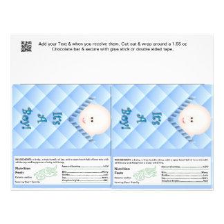 2 favores de fiesta de las envolturas de la barra folleto 21,6 x 28 cm