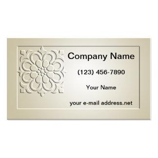 2 florales grabados en relieve plantillas de tarjeta de negocio