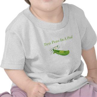 ¡2 guisantes en una vaina, camiseta, para los geme