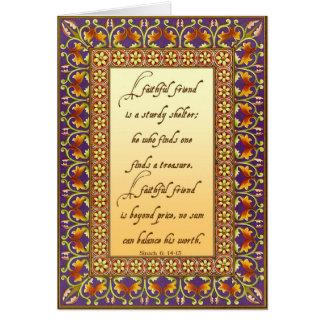 2. La descripción de la biblia de un buen amigo Felicitacion