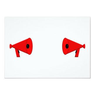 2 megáfonos en duelo invitación 12,7 x 17,8 cm