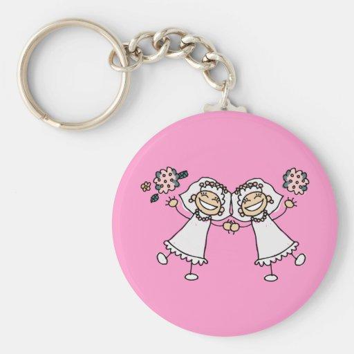 2 novias llaveros personalizados