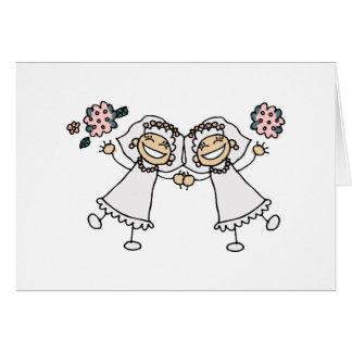 2 novias tarjeton