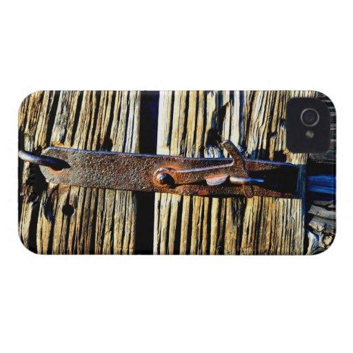 2.o Vieja caja rústica de madera del teléfono del  iPhone 4 Case-Mate Carcasas