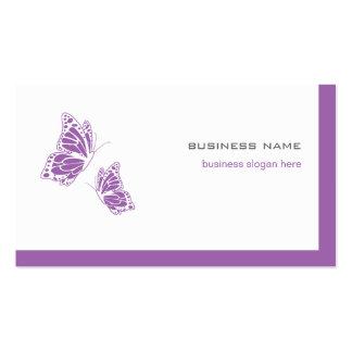 2 simples modernos elegantes violetas y blancos de tarjetas de visita