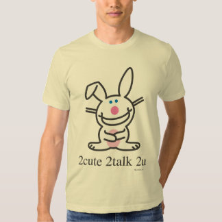 2cute 2talk 2u camiseta