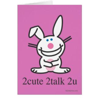 2cute 2talk 2u tarjeta de felicitación