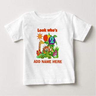 2da camiseta personalizada del cumpleaños del