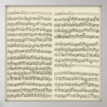 2da habitación del violoncelo de Bach, varias pági Póster