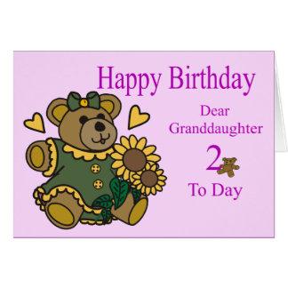2da tarjeta de cumpleaños de la nieta