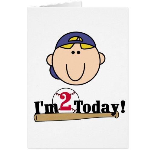 2das camisetas del cumpleaños del béisbol rubio de felicitacion
