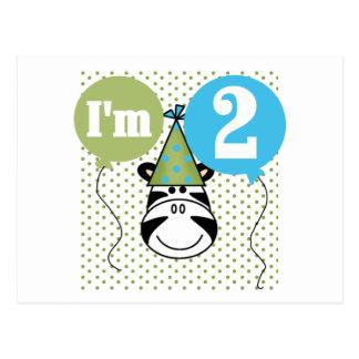 2das camisetas y regalos del cumpleaños de la cebr postal