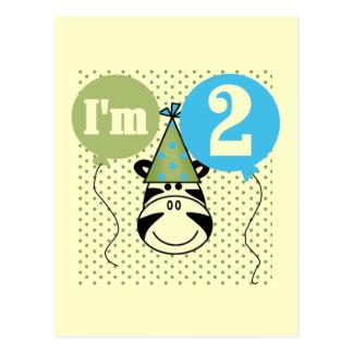 2das camisetas y regalos del cumpleaños de la cebr postales