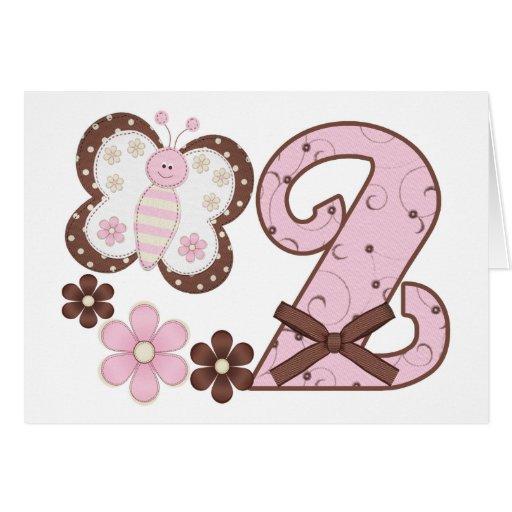 2das invitaciones del cumpleaños de la mariposa ro tarjeta