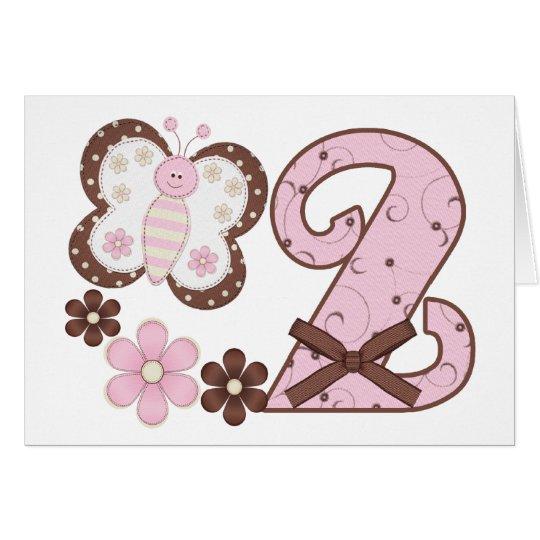 2das invitaciones del cumpleaños de la mariposa ro tarjeta pequeña