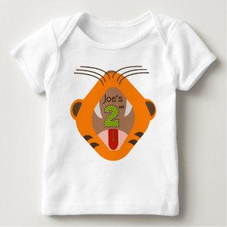 2do Camisa del rugido del tigre del cumpleaños