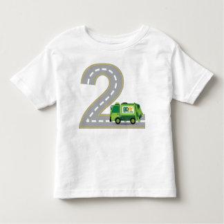 2do Camiseta del camión de basura del cumpleaños