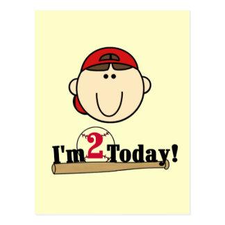 2do cumpleaños del béisbol trigueno del muchacho postal