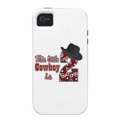 2do cumpleaños del vaquero Case-Mate iPhone 4 fundas
