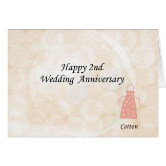 2do feliz. Aniversario de boda Tarjetas