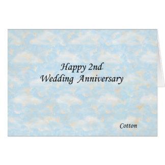 2do feliz. Aniversario de boda Tarjeta De Felicitación