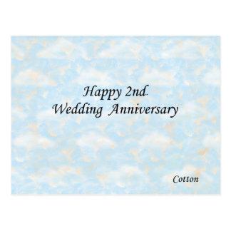 2do feliz. Aniversario de boda Tarjeta Postal