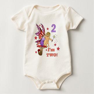 2do Hada del cumpleaños Body Para Bebé