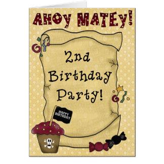 2do Invitaciones del cumpleaños del pirata Tarjetas