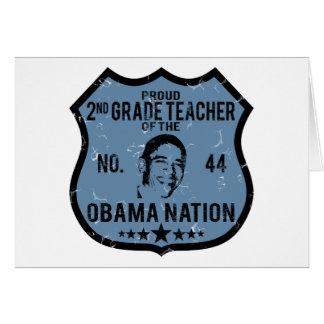 2do Nación de Obama del grado Tarjeta De Felicitación