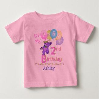 2do Princesa Bear de la chica marchosa del Camiseta De Bebé
