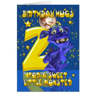 2do Tarjeta de cumpleaños con el monstruo azul