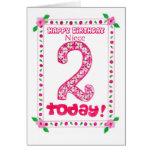 2do Tarjeta de cumpleaños para una sobrina
