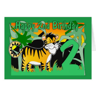 2do Tarjeta de cumpleaños - tigre