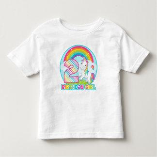 2do Unicornio del arco iris del cumpleaños - chica Camisetas
