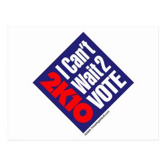 2K10 I no puede esperar el voto 2 Postal