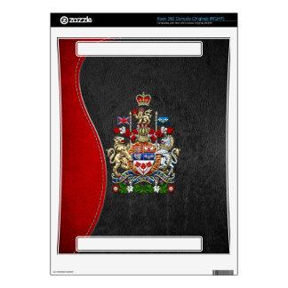 [300] Escudo de armas de Canadá [3D] Consola Xbox 360 Calcomanía