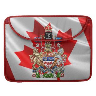 [300] Escudo de armas de Canadá [3D] Fundas Macbook Pro