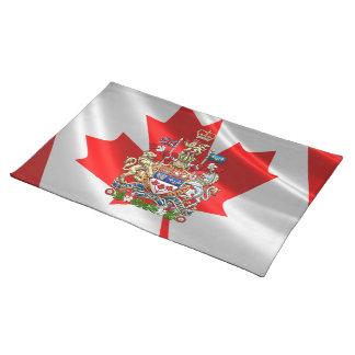 [300] Escudo de armas de Canadá [3D] Mantel Individual