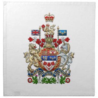 [300] Escudo de armas de Canadá [3D] Servilleta De Papel