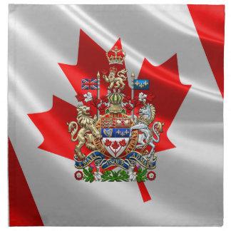 [300] Escudo de armas de Canadá [3D] Servilleta Imprimida