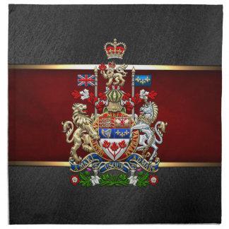 [300] Escudo de armas de Canadá [3D] Servilletas