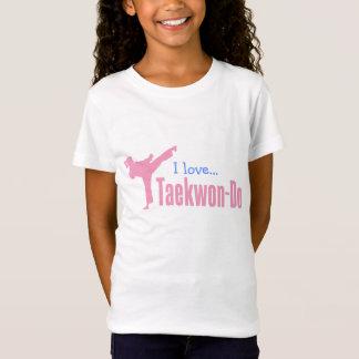 307-1 camisa del Taekwondo de las chicas jóvenes