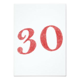 30 años de aniversario invitación 11,4 x 15,8 cm