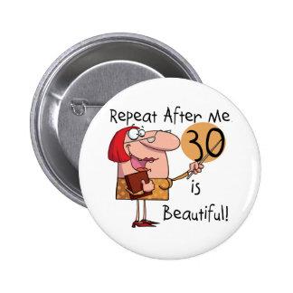 30 es camisetas y regalos hermosos pin