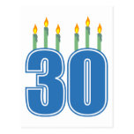 30 velas (azul/verde) tarjetas postales