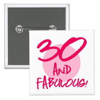 30 y fabuloso chapa cuadrada
