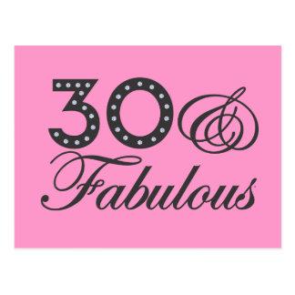 30 y regalo fabuloso postal