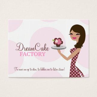 311 Carlie el Brunette BusinessCard de Cutie de la Tarjeta De Negocios