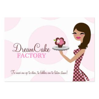 311 Carlie el Brunette BusinessCard de Cutie de la Tarjetas De Visita Grandes